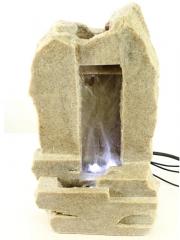Fuentes con luz fuente decorativa cascada piedra peque�a oasisdecor.com