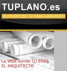 Hazte tu plano de arquitecto online y a bajo coste - tuplano.es