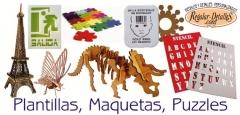 Plantillas, maquetas, puzzles personalizados