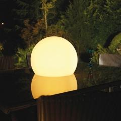 Bola policarbonato iluminacion led rgb inalambrica