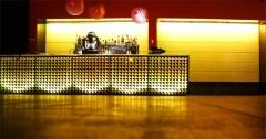 Barra iluminada con tiras de led