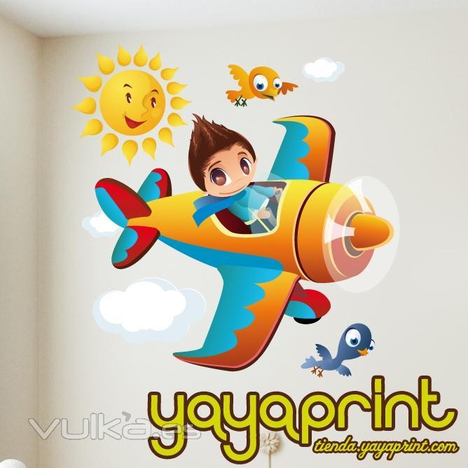 Foto vinilo decorativo para pared vinilos infantiles y for Vinilos infantiles para ninos