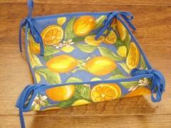 Panera de mesa modelo limones color azul