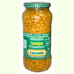 Lentejas lozano en tarro de 1 kg