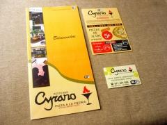Cyrano, carta y flyer. diseño e impresión