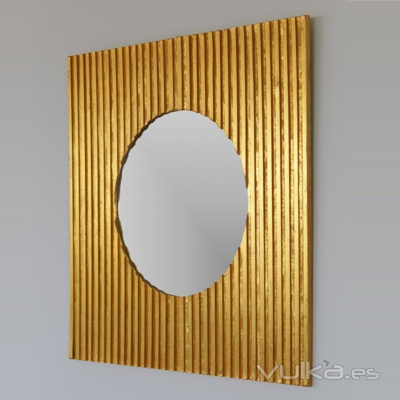 Foto espejo decorativo estilo vintage en oro envejecido for Espejo envejecido precio