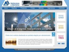 Página web de D3 Distrubuciones