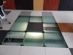 Suelo t�cnico placa de vidrio