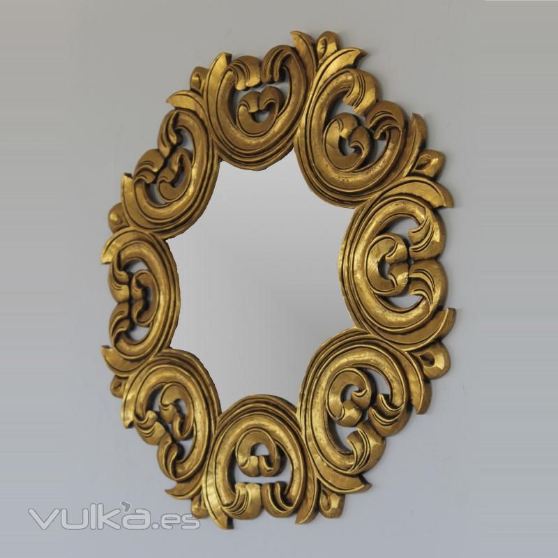 Foto espejo estilo barroco realizado a mano en madera - Espejos estilo barroco ...