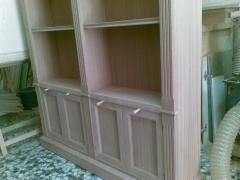 Mueble libreria en madera de sapelly