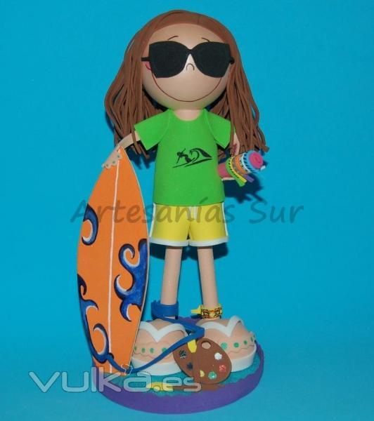 Fofucha personalizada surfista