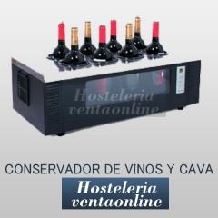 Conservador de vinos y cava 8 botellas