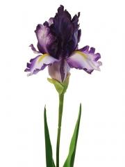 Flores artificiales de tela flor artificial iris lila oasis decor