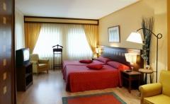 Habitaci�n Hotel Calatayud: cortinas y colchas de Cort. Com�n