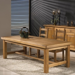 Mesa comedor roble rustico.