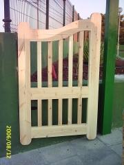 Puerta de jadin en madera