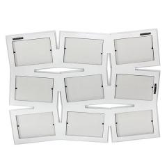 Portafotos multi ventanas. portafotos multiple bosco blanco 10x15 9 fotos en la llimona home (2)
