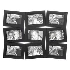 Portafotos multi ventanas. portafotos multiple bosco negro 10x15 9 fotos en la llimona home