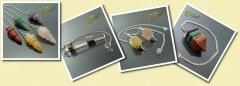 P�ndulos artesanales hechos con minerales. p�ndulos de los 7 chakras, p�ndulos para reiki y radieste