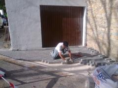 Adoquinado en calles de ibero