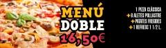 Menú doble en pizzería toscane