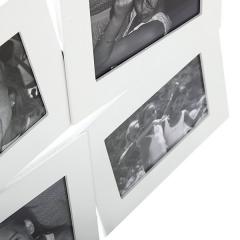 Portafotos multi ventanas. portafotos multiple bosco blanco 10x15 6 fotos h en la llimona home (1)