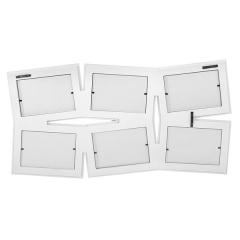 Portafotos multi ventanas. portafotos multiple bosco blanco 10x15 6 fotos h en la llimona home (2)