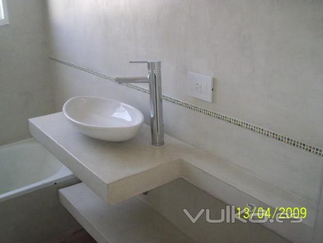 Baño Microcemento Alisado:MICROCEMENTO: BAÑO COMPLETO