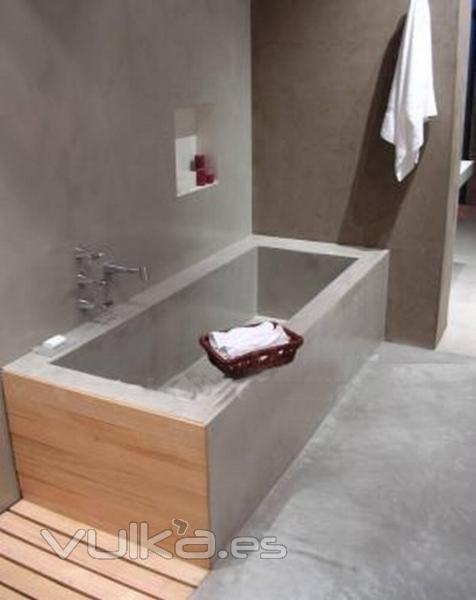 Baños Con Microcemento Fotos:MICROCEMENTO: BAÑERA Y BAÑO COMPLETO
