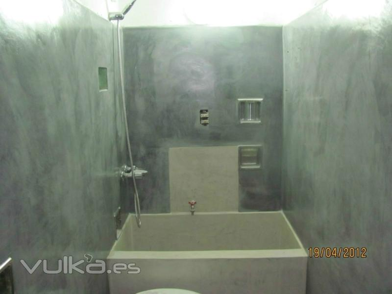 Baños Con Microcemento Alisado:MICROCEMENTO: BAÑO COMPLETO