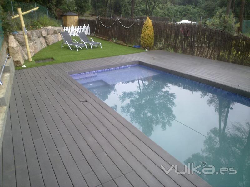 Foto piscina 4x8 obra realizada por gim piscinas - Piscinas de obra ...