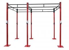 Jaula para entrenamiento crosfit. medidas: ancho: 1.860 cm. largo: 1.190 + 1.860 cm. alto: 2.515 cm.