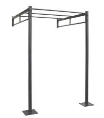 Estructura crossfit a pared. medidas: ancho: 1.620 cm. largo:1.860 cm. alto: 2.520 cm