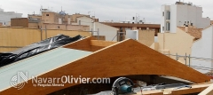 Montaje de panel sandwhic sobre estructura de madera