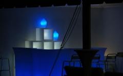Barras de bar iluminadas, con luz, acanto