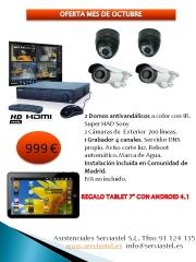 Oferta cámaras con regalo de Tablet