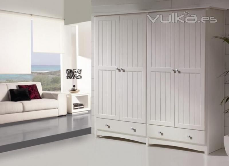 Foto armario blanco 4 puertas - Mueble provenzal blanco ...