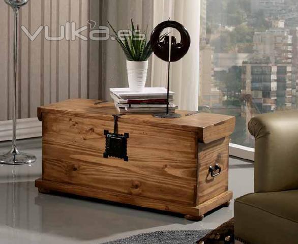 Foto baul madera rustico for Baul madera barato
