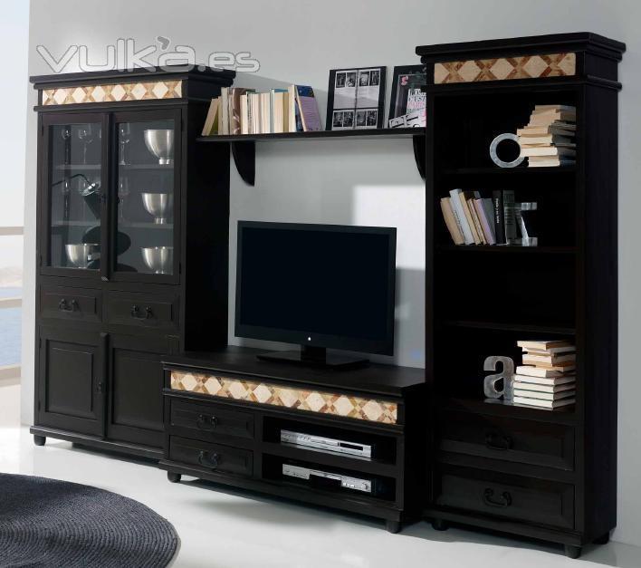 Vulka Muebles : Foto muebles salon madera rustico