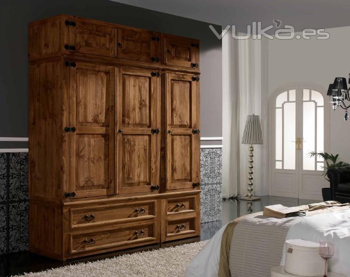 Foto armario rustico mexicano for Muebles rusticos