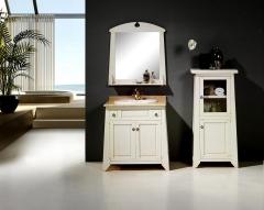 Mueble ba�o rustico blanco