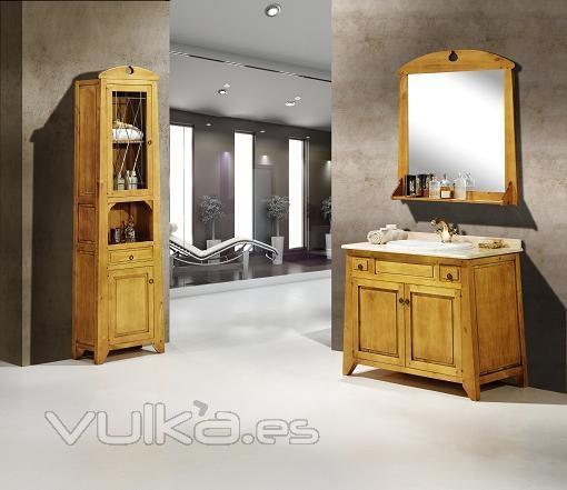 Foto mueble ba o rustico for Muebles de bano rusticos baratos