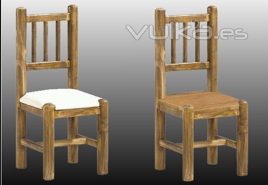 Foto silla rustica tronco for Sillas de madera rusticas