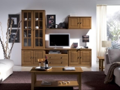 Mueble salon pino nogal