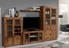 Salon madera rustico