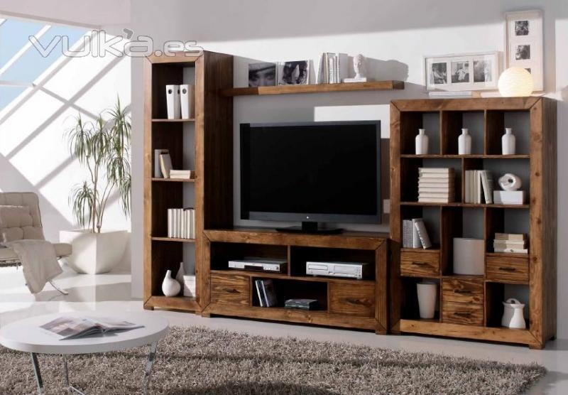 Silarte muebles r sticos - Muebles de salon de madera modernos ...