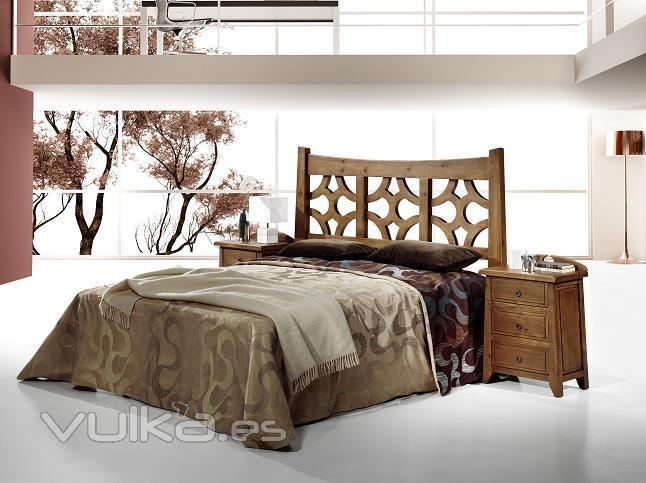 Foto: dormitorio rustico madera
