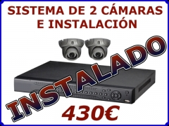 Sistema de 2 cámaras con instalación 430eur