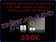 Alarma de hogar con gsm instalado por 370eur