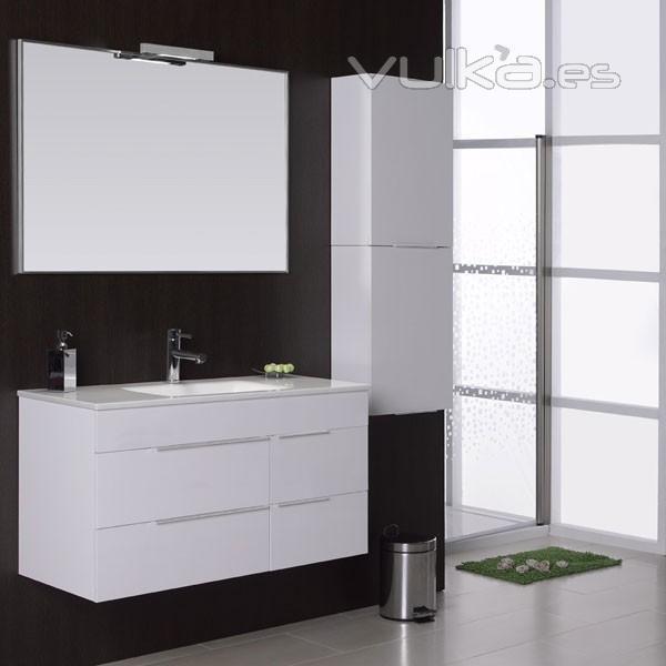 Muebles De Baño Lucena:Foto: Mueble de baño Avina de 120 cm, color blanco